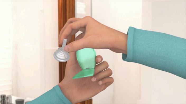 Wie wende ich ein Kondom-Urinal an?