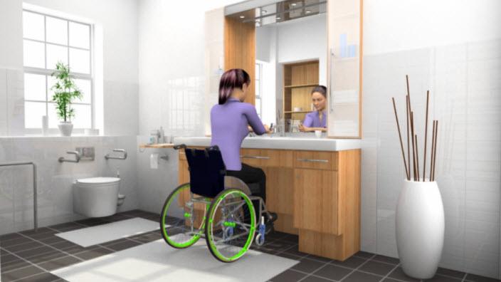 SpeediCath® Compact Set für Frauen im Rollstuhl