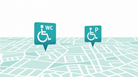 Finden SiebarrierefreieToilettenund Parkplätze
