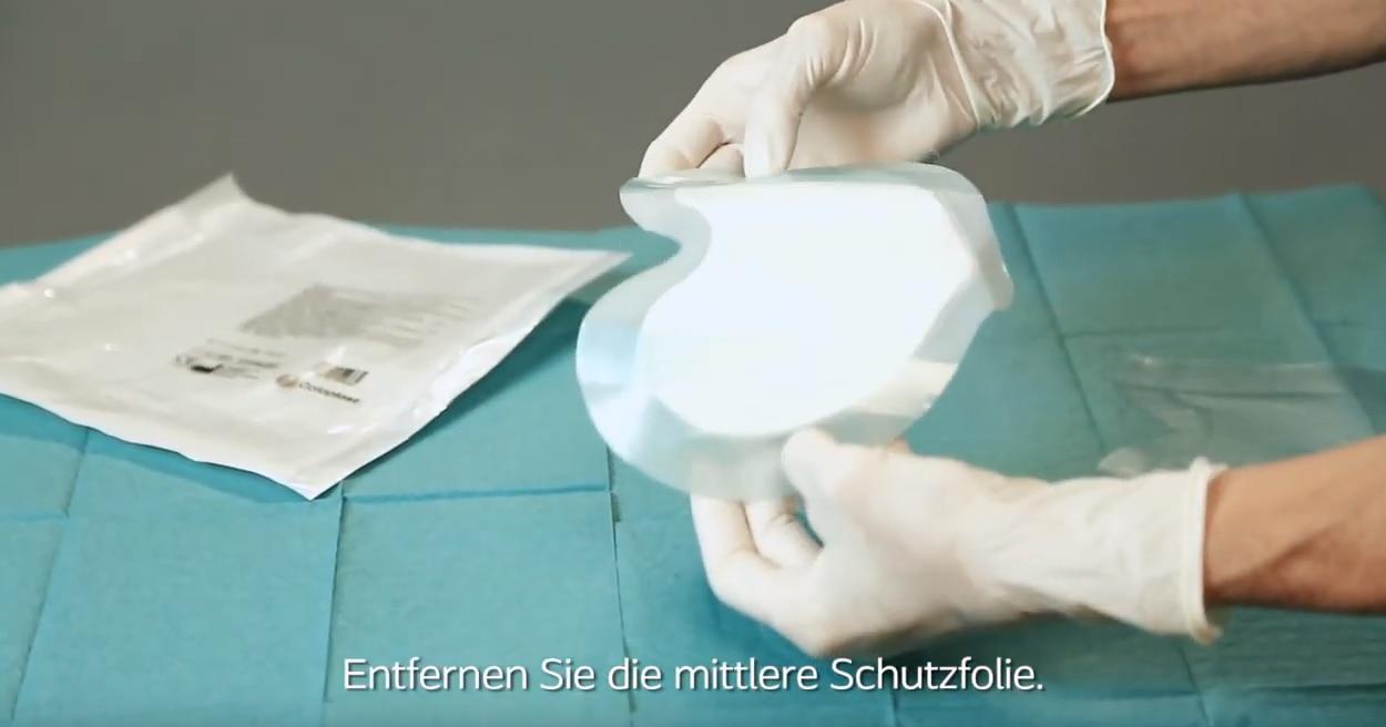 Applikationsvideo Biatain Silicone Sakrum klein